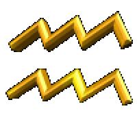 水瓶座符号-水波