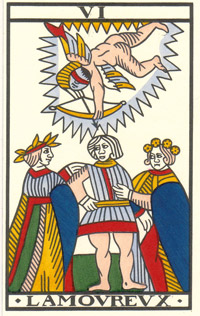 Lovers in Jean Noblet Tarot