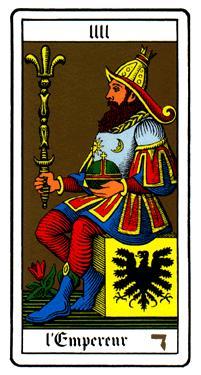 Oswald Wirth中的皇帝牌